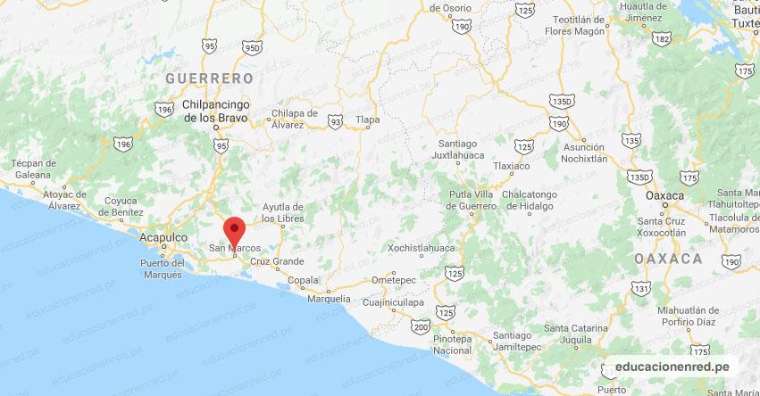 Temblor en México de Magnitud 5.7 (Hoy Viernes 19 Marzo 2021) Terremoto - Sismo - Epicentro - San Marcos - Guerrero - GRO. - SSN - www.ssn.unam.mx