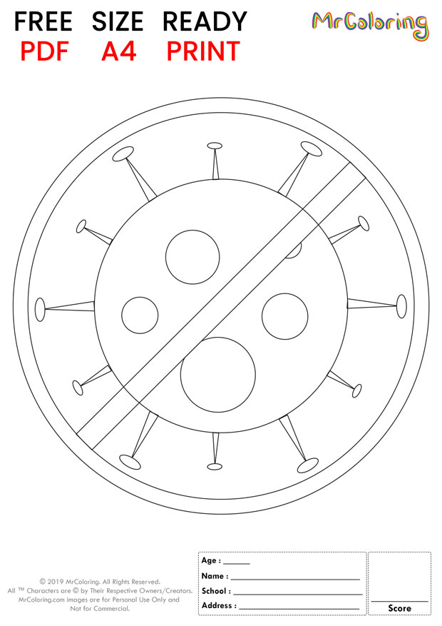 printable stop corona virus coloring pages 3