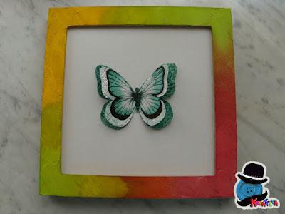 quadretto fai da te con farfalla 3d