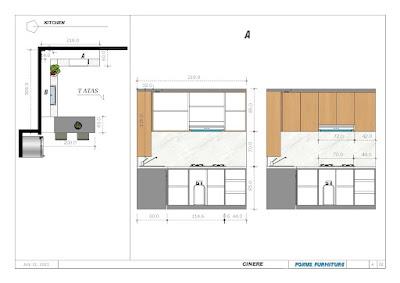 gambar desain kitchenset serta ukuran