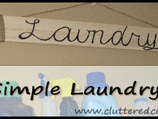 DIY Simple Laundry Sign and what didn't work with it..