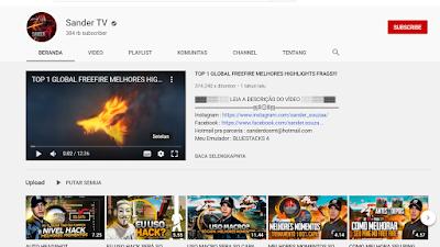 Youtuber Gaming Free Fire - SANDER TV