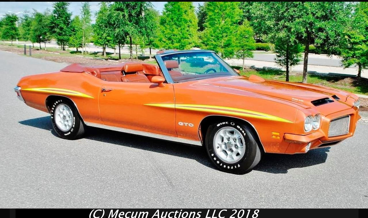 On The Block 1971 Gto Convertible Update With Sold Price