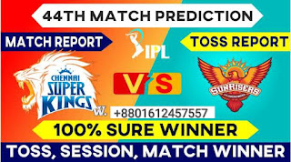 IPL 2021 CSK vs SRH IPL T20 44th Match 100% Sure Match Prediction Today Tips