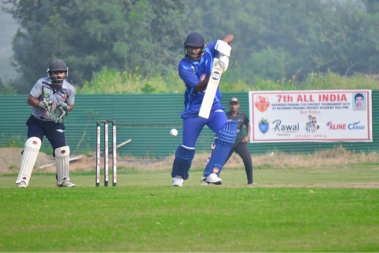 ऑल इंडिया रविंद्र फागना T-20 क्रिकेट टूर्नामेंट :  मैन ऑफ द मैच अंडर-19 प्लेयर मयंक डागर को मिला