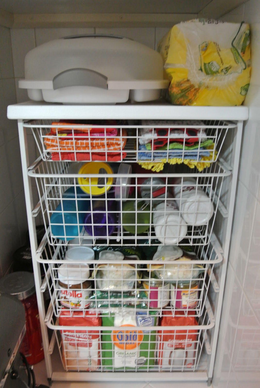 Wire Baskets For Pantry Organization With Deep Shelves