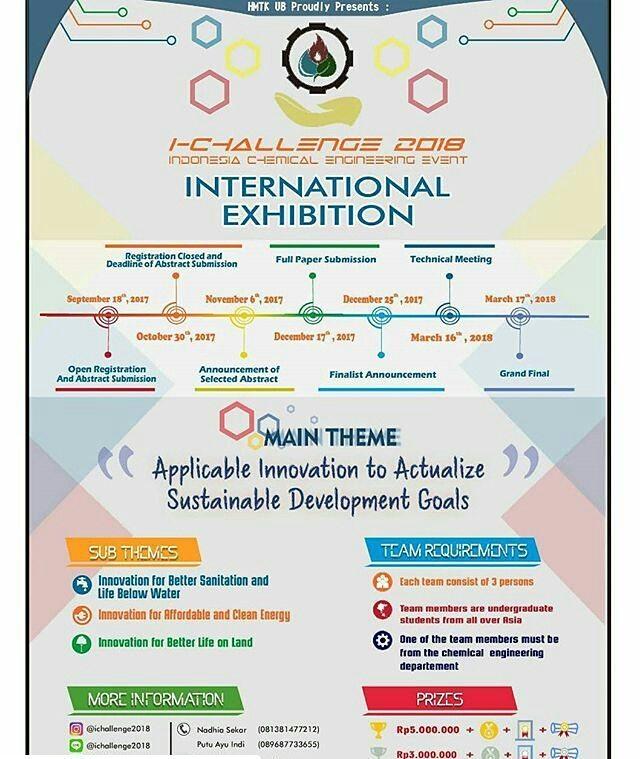 Indonesia Chemical Engineering Event I-Challenge 2018 | Univ. Brawijaya | Mahasiswa
