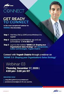 Yogesh Chabria JSW Live Jindal Steel Works Connect Seminar