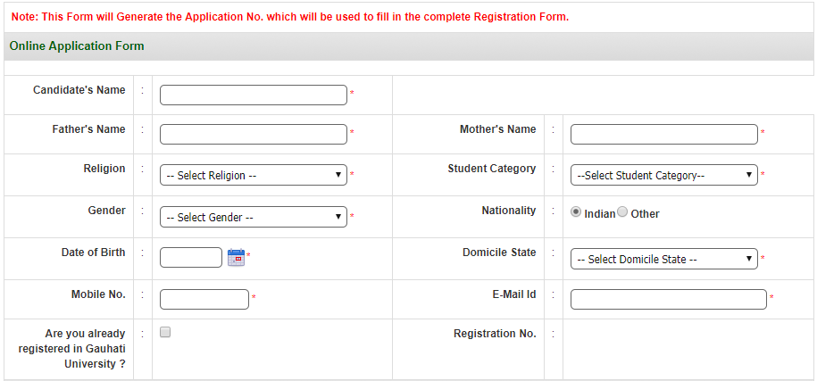 TDC, Students Online Examination Registration (B.A, B.Com