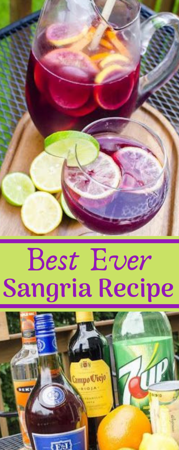 Best Ever Sangria Recipe #healthydrink #sangria #cocktail #summer #party