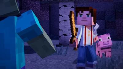 تجربة العبة ماين كرافت 1 Minecraft Story Mode Episode