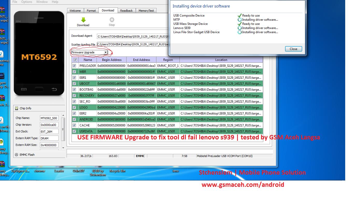 How to fix tool dl image fail Lenovo s939 ?  Lenovo s939 after flashing use flashtool get error... tool dl image fail