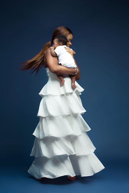 Stunning photos of Laura Ikeji Kanu and her cute son, Ryan Kanu