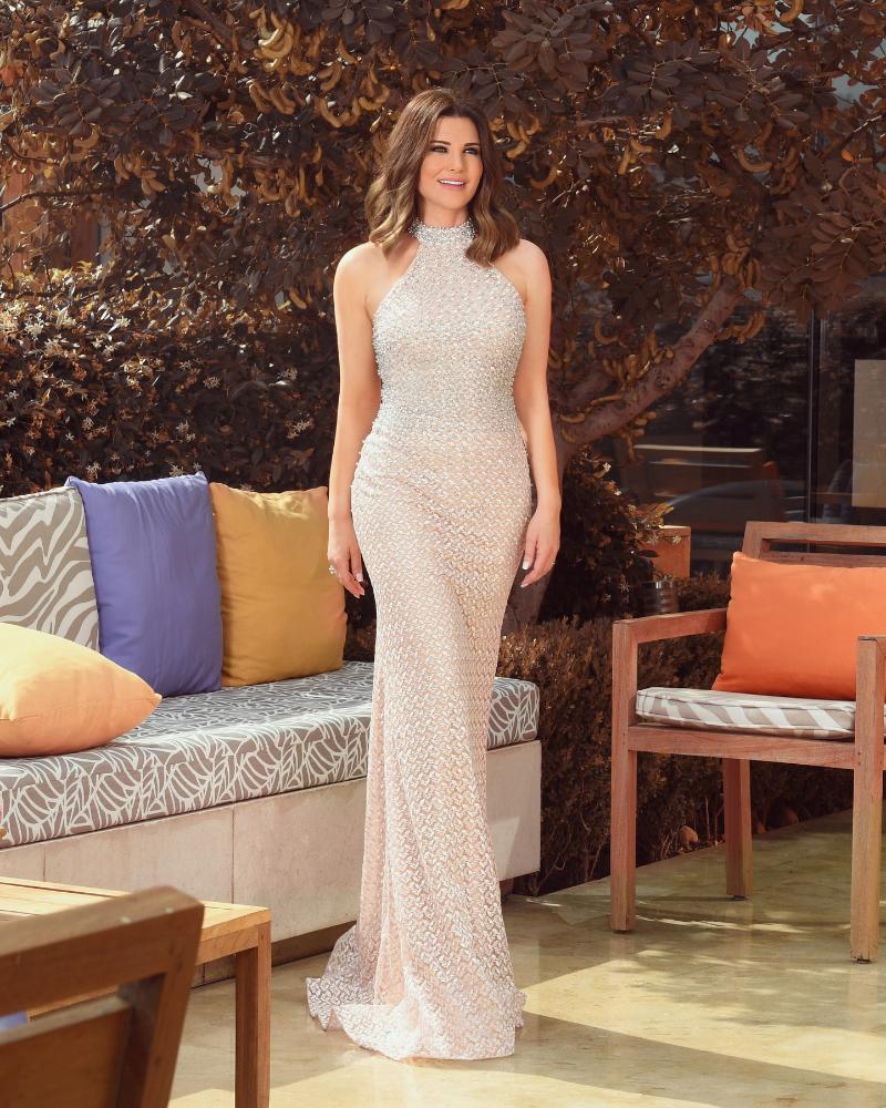 Mona Abou Hamze Presenter Seksi dari Lebanon galmour dress