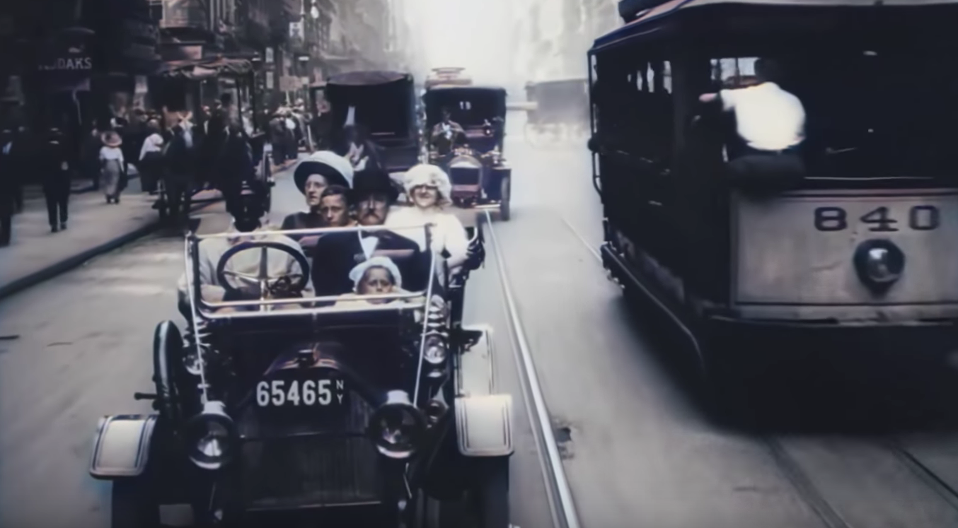 A Trip Through New York City in 1911 | Altes Material via KI in 4k 60fps und Farbe | Zeitreise Galore