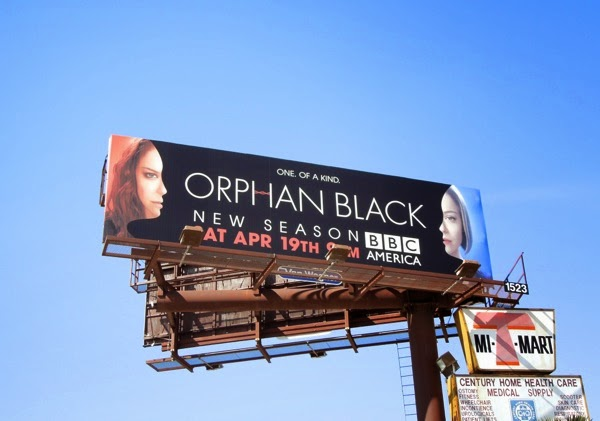 Orphan Black series 2 billboard