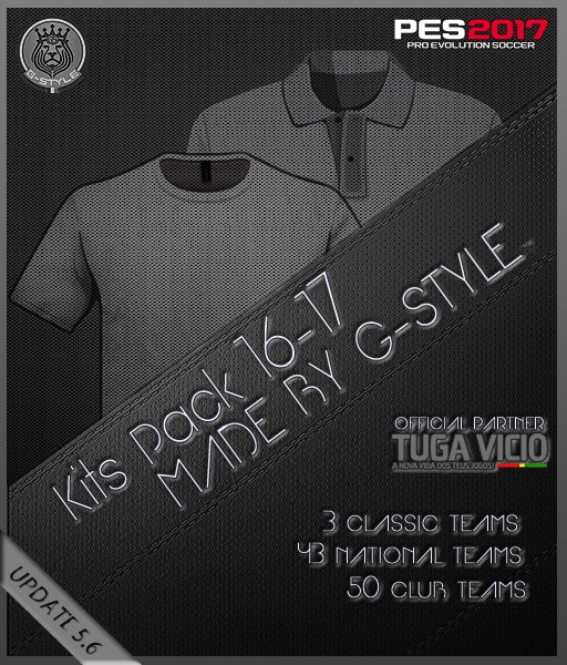 PES 2017 Kits Pack 16-17 v5 6 AIO by G-Style