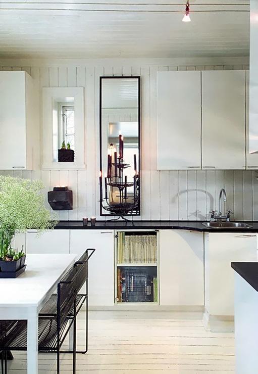 cuisine blanche style scandinave. Black Bedroom Furniture Sets. Home Design Ideas