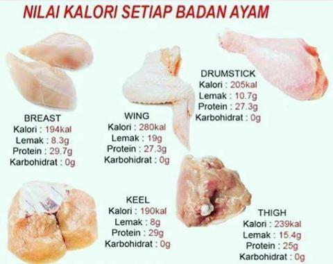 Daftar Kalori Makanan