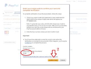 4 digit kode paypal vcc
