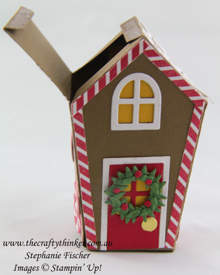 Stampin Up, #thecraftythinker, Christmas Treat Box, Gingerbread House,Xmas Table Favour, Sweet Home Bundle, Stampin Up Australia Demonstrator, Stephanie Fischer, NSW