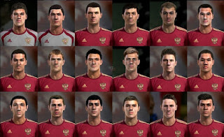 Facepack Russia National Sub 19 Team full Pes 2013