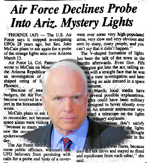 Senator John McCain Was Interested in UFO Research