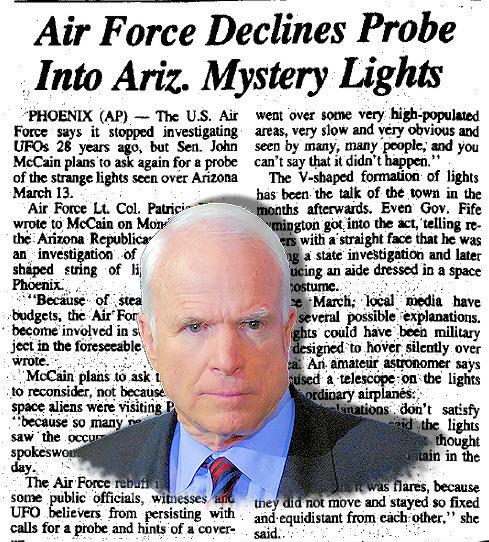 Senator John McCain Was Interested in UFO Research