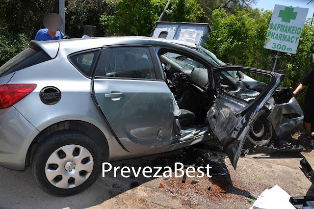 Πρέβεζα: Πριν λίγο – Σφοδρή σύγκρουση οχημάτων με τραυματισμούς των επιβαινόντων