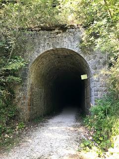 Tunnel di valico della ciclabile Spoleto-Norcia (Foto Derrick)