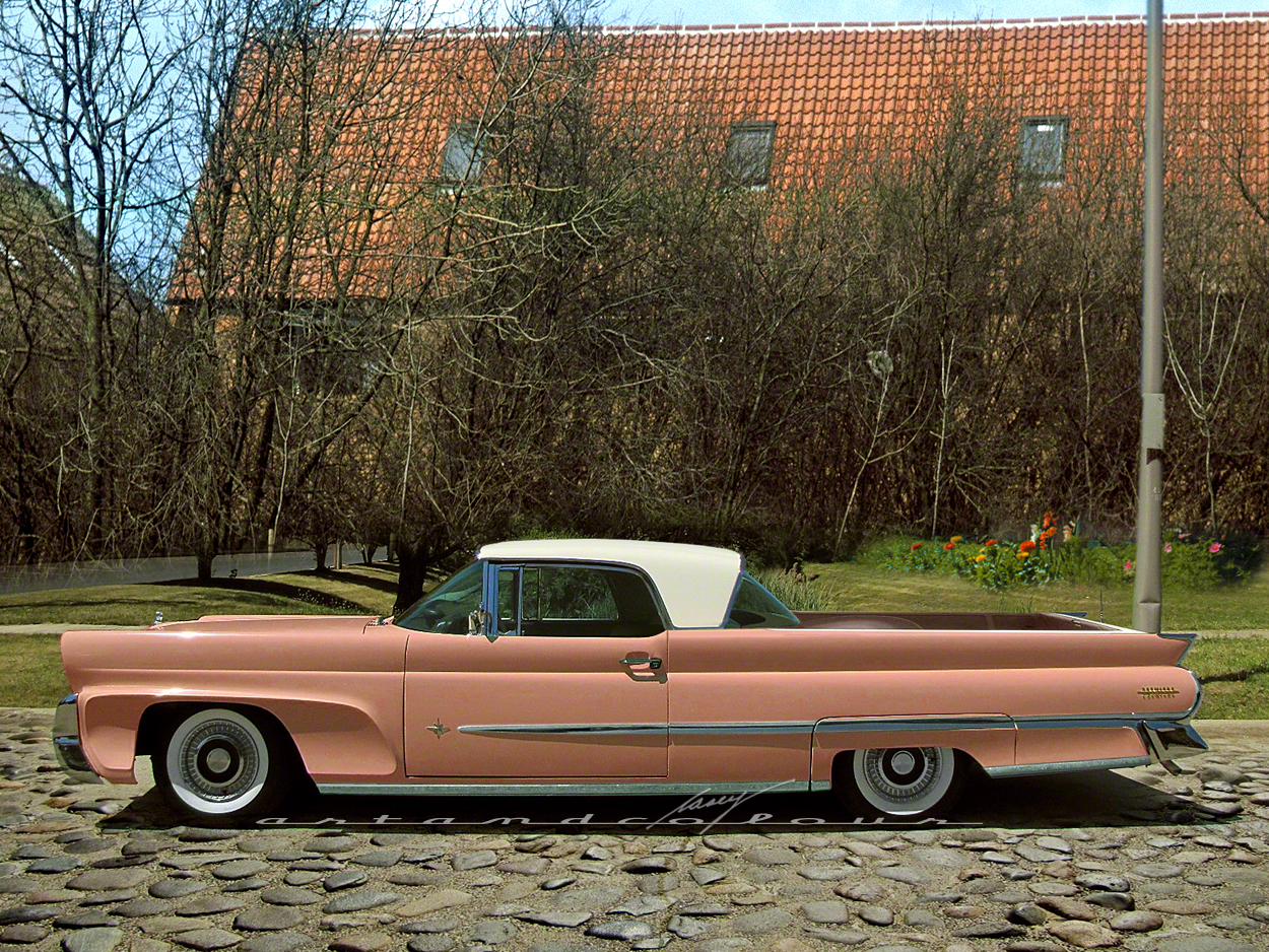 Casey Artandcolour Cars 1958 Lincoln Premiere Coupe Pickup