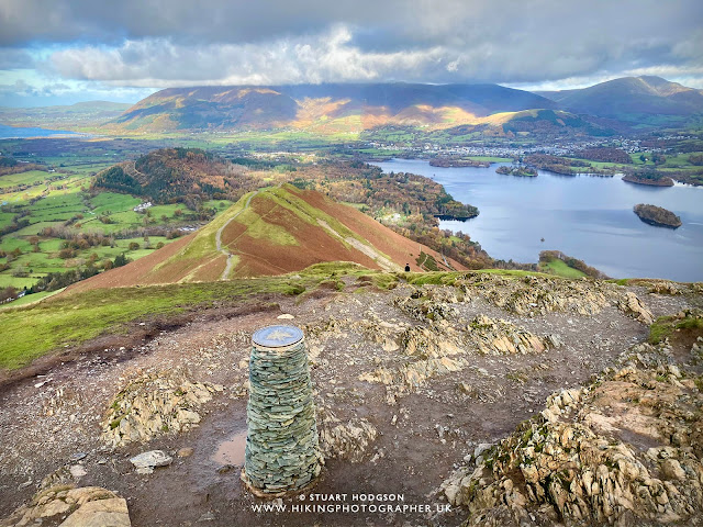 Catbells view from summit Cat-Bells-Catbells-walk-Keswick-Derwent-Water-Lakes-Lake-District-map-route-best-views, How long, How high,