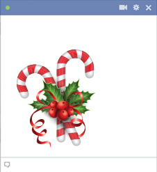 Christmas Candy Emoticon for Facebook