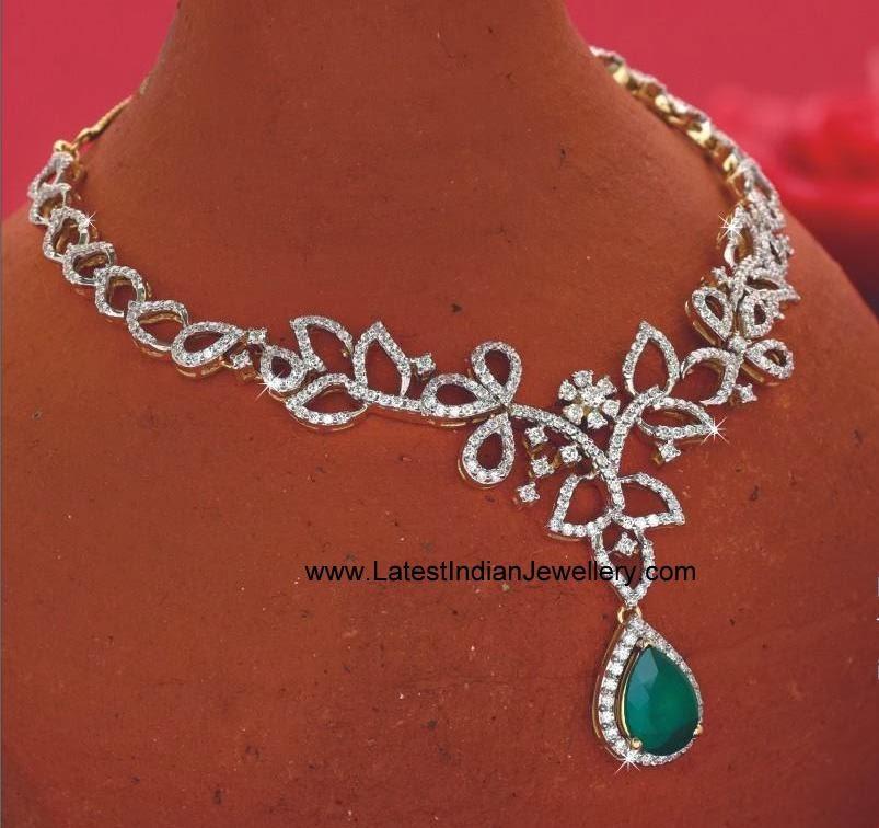 Timeless Stylish Diamond Necklace Latest Indian