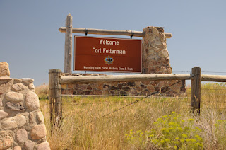 Fort Fetterman entrance sign