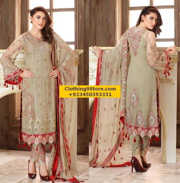 party wear designer suits pakistani
