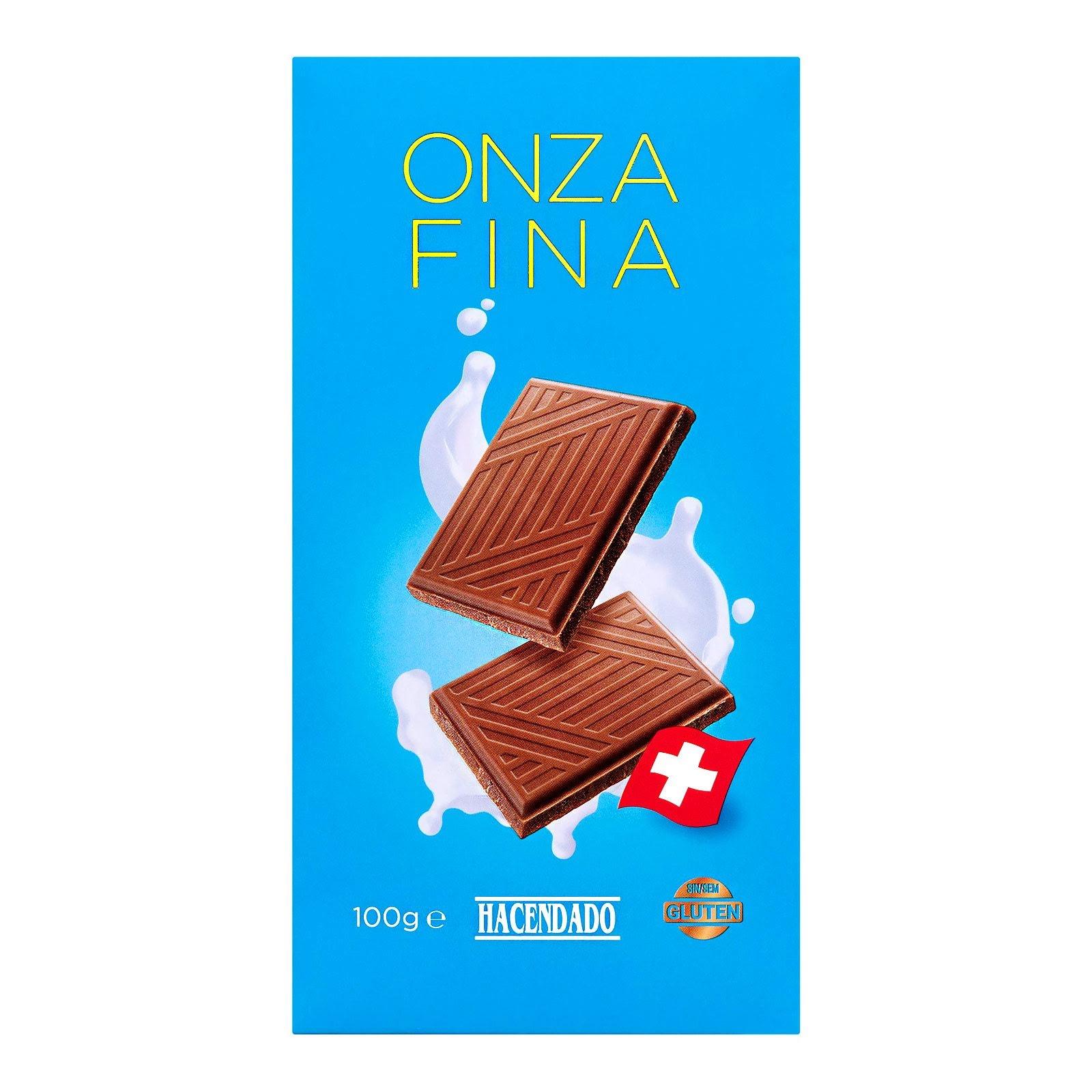 Chocolate con leche suizo onza fina Hacendado
