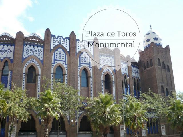 La storia della corrida a Plaza de Toros Monumental. l'esterno dell'arena