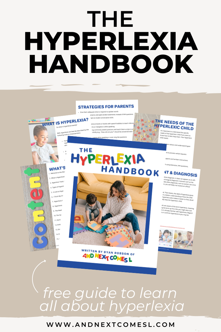 Wondering what hyperlexia is? The Hyperlexia Handbook is a great introduction to what hyperlexia is (and isn't!) and it's free to download