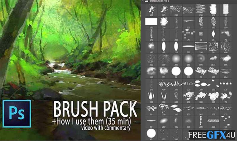 80+ Digital Painting Photoshop Brushes