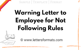 warning letter to employee for not following procedures