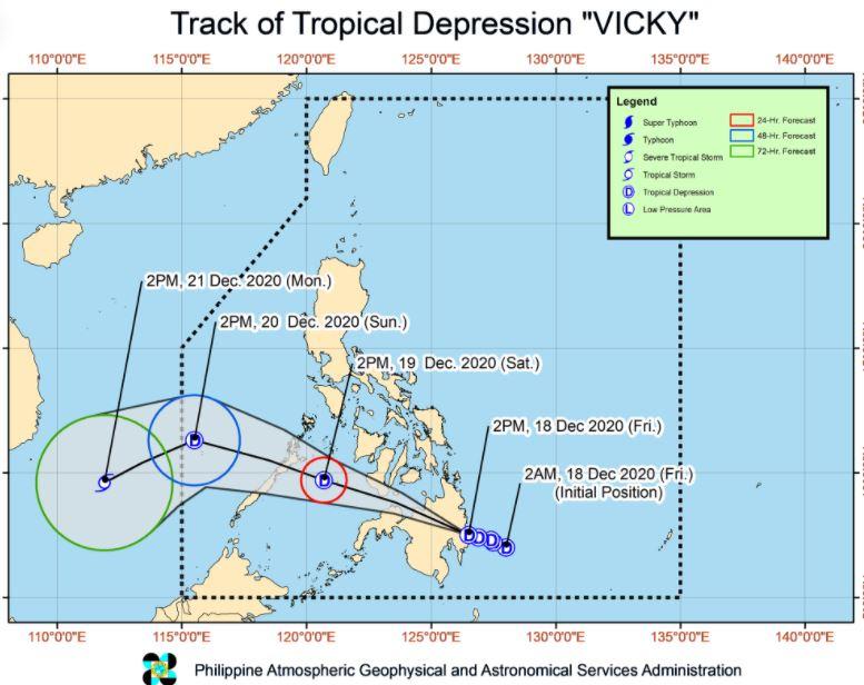 'Bagyong Vicky' traverses Mindanao landmass