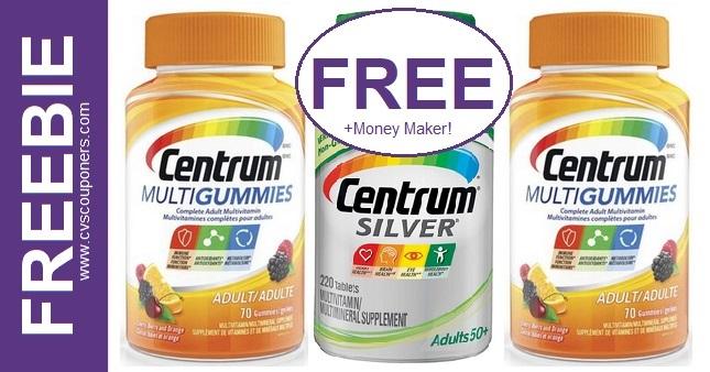 FREE Centrum Vitamins at CVS 1-3-1-9