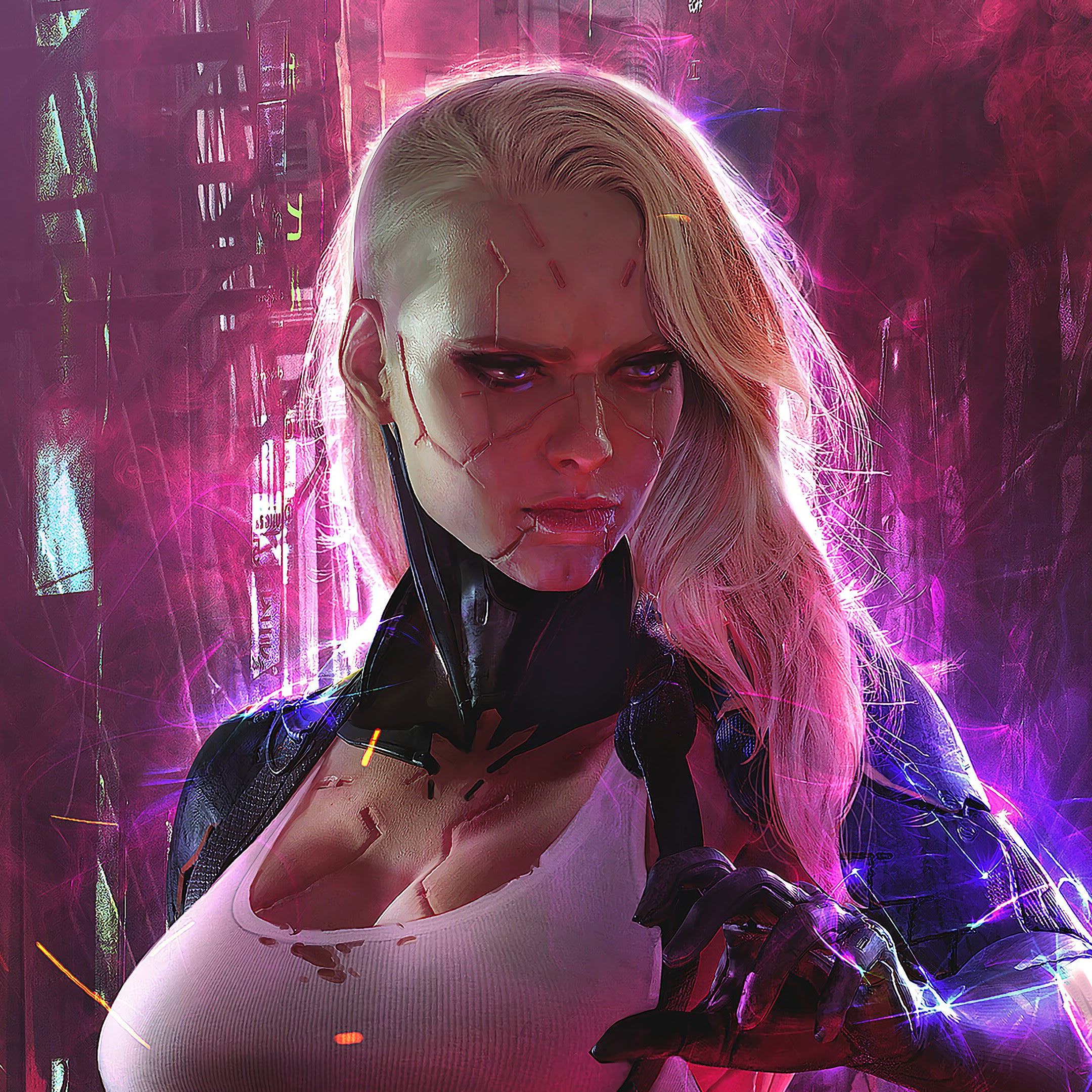 Cyberpunk, Girl, Sci-Fi, 4K, #144 Wallpaper