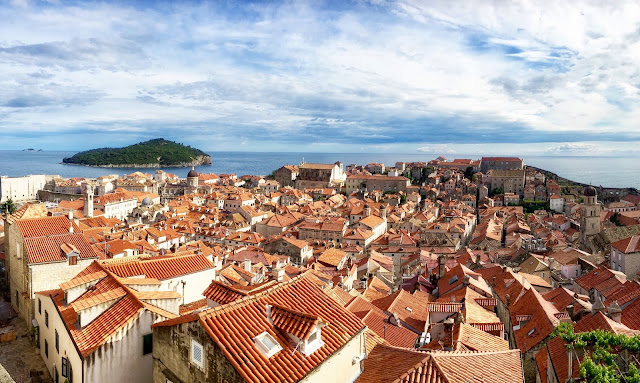 Old Town from City Walls, Dubrovnik, Croatia