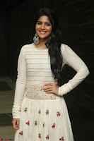 Megha Akash in beautiful White Anarkali Dress at Pre release function of Movie LIE ~ Celebrities Galleries 005.JPG
