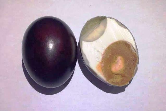 telur asin organik