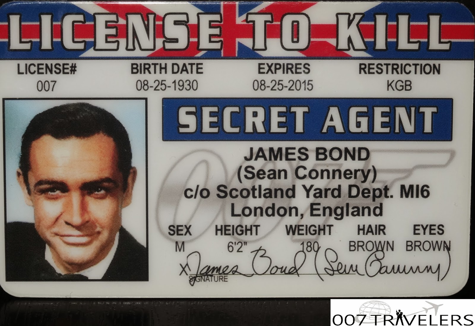spy id card template - 007 travelers 007 item license to kill id card