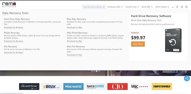 【攝影實驗室】影片修復軟體 Remo Repair MOV,救回原不屬於你的檔案 - Remo Software 還提供了硬碟救援、文件修復、Outlook 備份等軟體