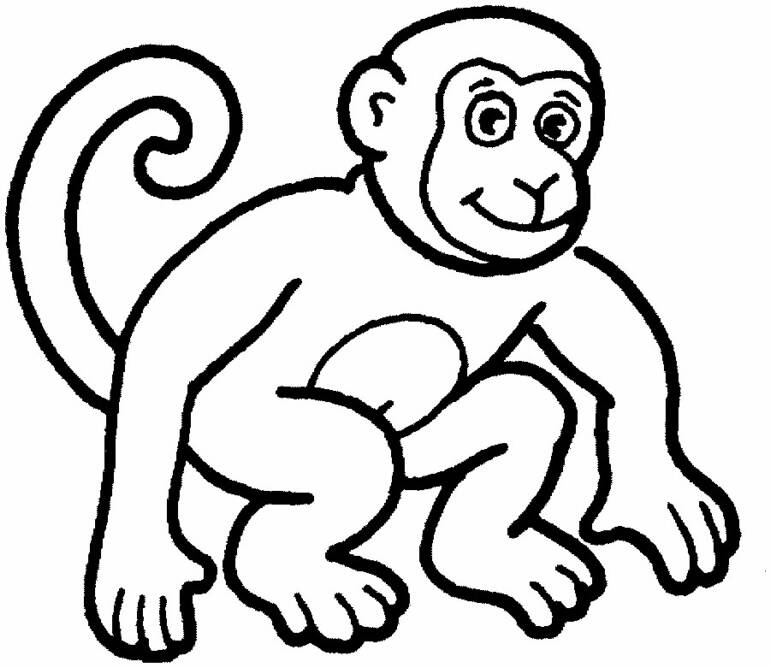 animal monkey and baby monkey coloring pages kids kentscraft. Black Bedroom Furniture Sets. Home Design Ideas